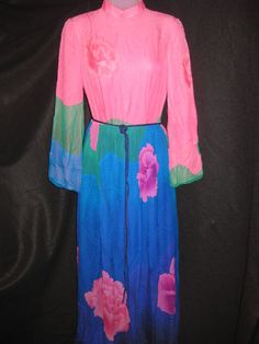 Vintage 1960's Japanese Silk Floral Dress on #auction starting at $0.99