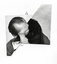 t…… Collage portrait, folded picture, kissing couple Trovato su weissesrauschen.t… Mehr Collages, Photomontage, John Stezaker, Collage Portrait, Graphic, Belle Photo, Art Inspo, Art Direction, Art Photography