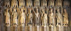 The Nine Worthies - Charlemagne, King Arthur, Godfrey of Bouillon, Julius Caesar, Hector, Alexander the Great, David, Joshua and Judas Maccabeus