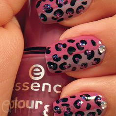 Pink and purple with cheetah, gems, and glitter!
