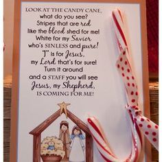 Legend of the Candy Cane Card for Witnessing at Christmas | Etsy Christmas Poems, Christmas Jesus, Meaning Of Christmas, Christmas Candy, Christmas Decorations To Make, Christmas Printables, Party Printables, Candy Cane Legend, Candy Land Theme