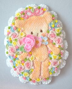 極細カタン糸で編んだお花とアップリケです☆miniature cotton crochet