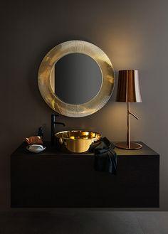 Article Maison sur la tendance art déco : salle de bains Kartell by Laufen au show-room David B