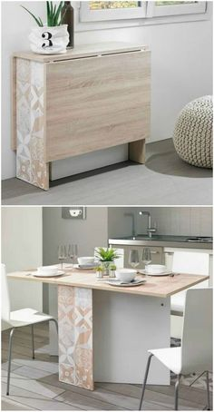 10 Person Dining Table, Dining Table Small Space, Small Tables, Dining Room Design, Small Table Ideas, Rv Table Ideas, Dining Living Room Combo, Folding Dinning Table, Small Dining Table Apartment