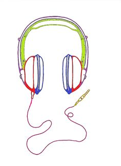 different colors for different parts of the headphones all bright neonish colors