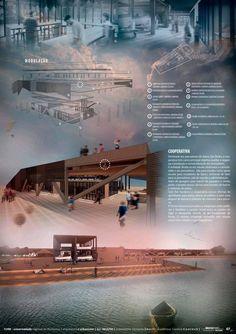 The Definitive Guide to an Epic Architecture Portfolio Architecture Presentation Board, Presentation Layout, Architecture Board, Architecture Graphics, Architecture Drawings, Concept Architecture, Architecture Design, Presentation Boards, Architecture Diagrams