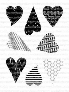 *Clearly Besotted MINI LOVE HEARTS Clear Stamp Set