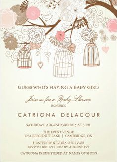 50 best baby shower invitations images on pinterest baby shower baby shower invitations vintage floral birdcage baby shower invitations babyshowerinvitations filmwisefo