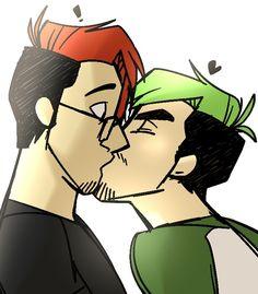 Kiss kiss fall in love! #septiplier