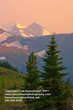 Last Light on the High Peaks, Glacier National Park, Montana