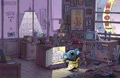 Mais artes de Eric Guillon criadas para o filme Sing, da Illumination   THECAB - The Concept Art Blog