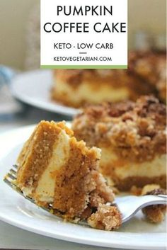 All Day I Dream About Food saved to Best Low Carb Keto Cake low carb pumpkin coffee cake that is made with layers of cake, cream cheese and a crumble topping. Baked with coconut flour this is a healthy alternative. Low Carb Sweets, Low Carb Desserts, Low Carb Recipes, Dessert Recipes, Diabetic Desserts, Bread Recipes, Paleo Cake Recipes, Flour Recipes, Healthy Recipes