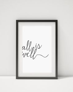 Typography Print Black and White Art by CloudWalkerStudios on Etsy