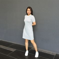 H&M dress with Adidas Original Stansmith