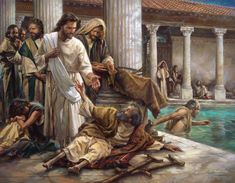 "Then Jesus said to him, ""Get up! Pick up your mat and walk.""  At once the man was cured; he picked up his mat and walked. John 5:8-9"