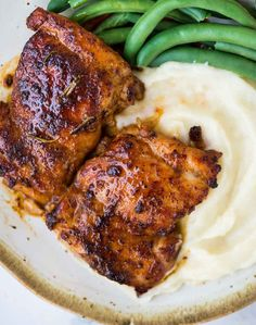These Sweet and Spicy boneless Chicken thighs are incredibly delicious and made on the stovetop. The dry spice rub is sweet-spicy and is a blend of brown sugar and other spices. This easy recipe qualifies as a perfect midweek dinner. Roast Chicken Recipes, Chicken Thigh Recipes, Baked Chicken, Italian Chopped Salad, Sweet And Spicy Chicken, Dry Rub Recipes, Boneless Chicken Thighs, Chicken Seasoning, Good Healthy Recipes