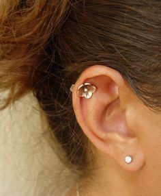 This is much cuter than my hoop. Cherry Blossom Helix Earring  Helix Piercing by HapaGirls on Etsy
