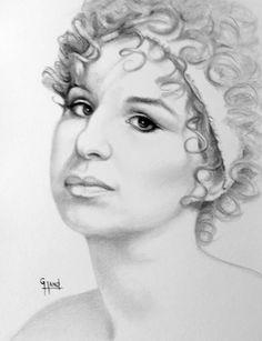 Barbra Streisand......Pencil Portrait Drawing by ...Greg Hand