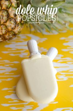 Dole Whip Popsicles