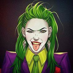 """3 Likes, 1 Comments - @83joker on Instagram: """"Artist @heyjenbartel  She Joker.  #theclownprincessofcrime #joker #art"""""""