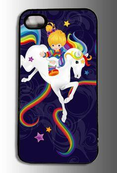 Rainbow Bright - iPhone Case, iPhone 4s, iPhone 4, iPhone accessory, custom iPhone case    customcasefx @ etsy