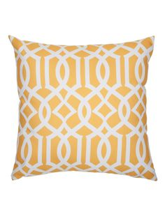 Chic Coral and White Moroccan Trellis Pattern Throw Pillows Lounge Cushions, Decorative Throw Pillows, Moroccan, Living Spaces, Coral, Trellis Pattern, Contemporary, Interior Design, Chic