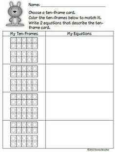 Common Core: Kindergarten Numbers from 11-19 - Math Coach's Corner - TeachersPayTeachers.com