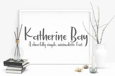 Katherine Bay by Alyssa's Letters on @creativemarket