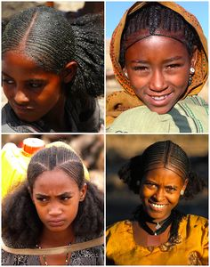 """When I was a young girl, my mom would sometimes style my hair in what many of you now recognize as """"African threading"""". The threaded style has a history of popularity in Africa African Threading, Hair Threading, Ethiopian Hair, Ethiopian Beauty, Medium Hair Styles, Curly Hair Styles, Natural Hair Styles, African Hairstyles, Afro Hairstyles"""