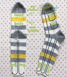 Sock monkey pattern