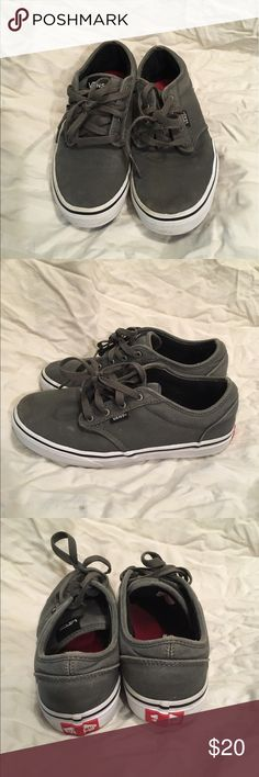 Size 5.5 grey Vans sneakers Cute grey size 5.5 Vans sneakers, great condition and gently used. Shoes Sneakers