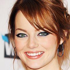 Love the metallic navy eyeliner