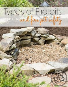 Outdoor DIY Projects : All about fire pits sizes and fuel types, also most importantly Fire Pit Safety. How to use them and keep your family safe! -Read More – Fire Pit Size, Fire Pits, Small Fire Pit, Fire Pit Safety, Porches, Gazebo, How To Patch Drywall, Types Of Fire, Square Fire Pit