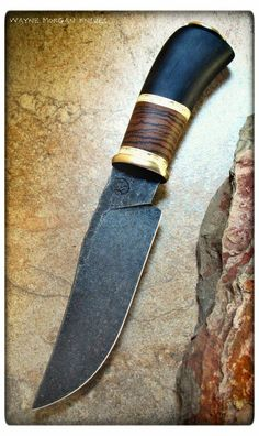 Steel K460-O1, Handle African blackwood, Giraffe bone spaces, And zebra wood, Guard and pommel bronze. Still have to do the sheath, This knife will be avalible on our new website that will be utilising Paypal. http://www.wood-database.com/lumber-identifica…/…/zebrawood/