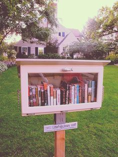 Board cover for my album of Little Free Libraries!