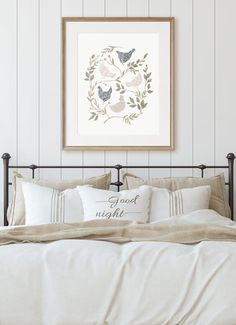 Get this adorable farmhouse style chicken printable for FREE! This is a great printable that can be printed right from your home or have it printed at your favorite store! Farmhouse Style Decorating, Farmhouse Decor, Cactus Wall Art, Digital Print, Bedroom Flooring, Farmhouse Homes, Bedroom Decor, Bedroom Ideas, Master Bedroom