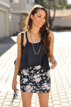 Abercrombie & Fitch floral summer outfit