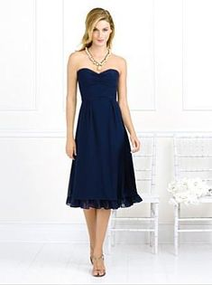 Wholesale One-Piece A-Line Discount Dark Navy Blue Wedding Party Gowns gv316