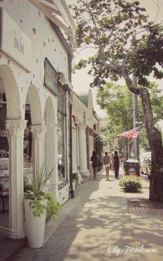 Stroll the streets of Southampton, NY
