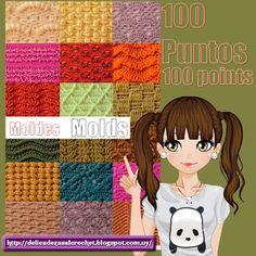 Delicadezas en crochet Gabriela: 100 moldes de puntos