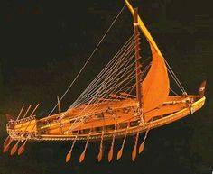 This ship is typical of the vessels used during the reign of Pharaoh Sahure over 4400 years ago.  Egypt's expanding interests in trade goods such as ebony, incense such as Myrh and frankincense, gold, copper and other useful metals inspired the Egyptians to build suitable ships for navigation of the  open sea.