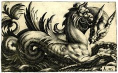 Sea Monsters riding the Waves----Maglioli. Ital. BM by tony harrison, via Flickr