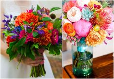 Bright Coloured Wedding Flowers