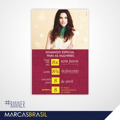 Banner do Dia da Mulher – Sinhá Moça > Desenvolvimento de Banner e Faixas para o Dia da Mulher para a Loja Sinhá Moça < #banner #marcasbrasil #agenciamkt #publicidadeamericana