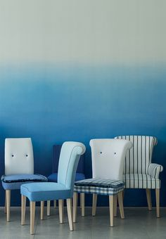 A new range of furniture for Spring 2013 upholstered in Designers Guild fabrics from cobalt to cloud.