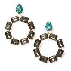 Too cool to be costume jewelry—yet not too precious to party in—true to their name, these crystal wreath earrings are a versatile statement-maker.   50%...