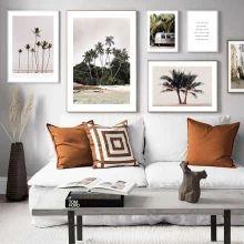Quadros/Posters para uma Decoração Minimalista Gallery Wall, Throw Pillows, Bed, Frame, Home Decor, Minimalist Decor, Frames, Picture Frame, Toss Pillows
