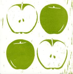 Granny Smith Apples by Carolyn Kimball on Artfully Walls