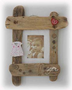cadre photo en bois flotté NATYDECO sur site www.natydecocorse...