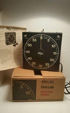 ~Vintage GRA Lab Mod 300 Photography Darkroom Timer Safelight